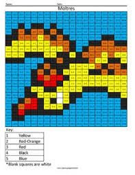 Pokemon Multiplication And Division Coloring Squared Pokemon