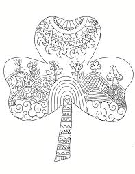 St Patricks Day Coloring Coloring Pages Shamrock Coloring Page Download The St