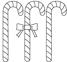 Small Picture Three Candy Canes Coloring Page Christmas