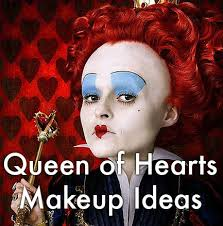 makeup ideas and tutorials for tim burton s queen of hearts