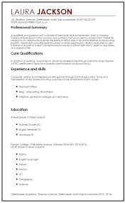 How To Write A Resume With No Work Experience Sample Resume For ...