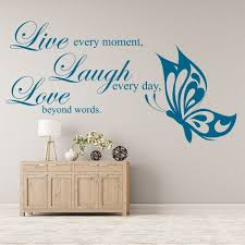 live laugh love wall sticker family e wall decal living room home decor