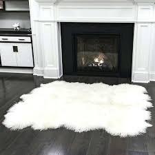 costco sheepskin rug s windward gray grey