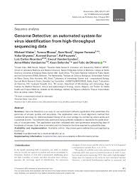 PDF) Genome Detective: An Automated System for Virus Identification from  High-throughput sequencing data
