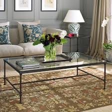 Iron And Glass Coffee Table Pompidou Metal Glass Coffee Table Large Oka
