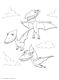 Small Picture Dinosaur Train Coloring Pages For Kids Picture Free Printable