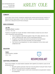 Resume Template 2016 Cover Letter Samples Cover Letter Samples