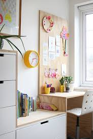 plywood desk in a kid s bedroom growing spaces