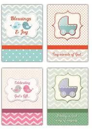 Blessings Joy Niv Box Of 12 Baby Congratulations Cards