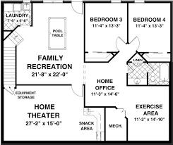 floor plans with basement. House Floor Plans With Basement Apartment E