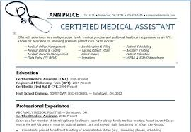 Medical Assistant Resume Examples No Experience Medical Assistant