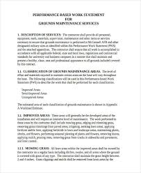 Work Statement Examples 31 Statement Of Work Examples Samples Pdf Word Pages Examples