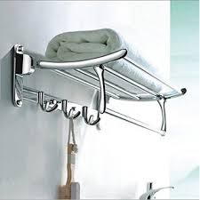 towel stand. Fortune Platinum Stainless Steel Folding Towel Rack (1.5 Feet Long / 18  Inch) Bathroom Towel Stand
