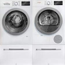 washing machine pedestal.  Machine Bosch 500 Series BOWADRE28405  SidebySide With Pedestal In Washing Machine O