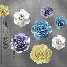ceramic wall flowers big ceramic roses decorative wall flower dishes porcelain decorative plate vintage home decor ceramic wall flowers