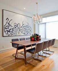 art for the dining room. Dining Table Art With Silver Ch Andelier Room Contemporary And Modern Chairs For The D