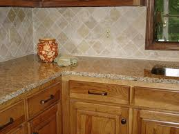 Tile Backsplashes With Granite Countertops Mesmerizing Here's A Simple Beige Colored Kitchen Backsplash With A Granite