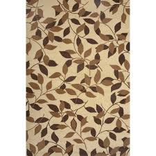 amazing ideas leaf pattern area rugs flooring rectangle brown with curve motif for floor patterned