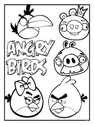 Angry Birds Coloring Pages To Make