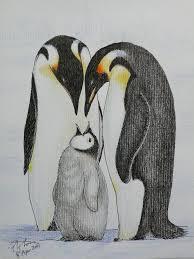 baby penguin drawing in pencil.  Penguin Emperor Penguin Color Pencil Drawing 1  By Poyee_lam0321 And Baby Drawing In Pencil N