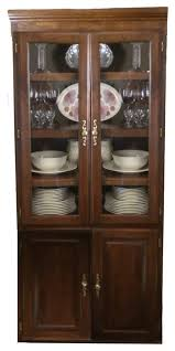 traditional bookcase glass doors