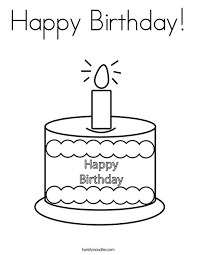 Here you will find coloring pages with balloons, birthday cake, presents and more. Happy Birthday Coloring Page Twisty Noodle