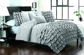 grey ruffle bedding
