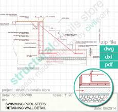 Small Picture Swimming Pool Steps Retaining Wall Detail Detail of standard