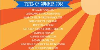 Summer Jobs Types Of Summer Jobs Red Black