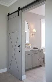 En Suite Bathroom with Gray Barn Door