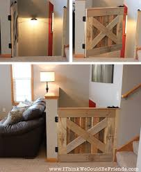 build this palette wood baby pet gate in 3 hours plans included