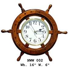 Small Picture Buy Handmade Natural Wood Nautical Wheel Wall Clock Home Decor