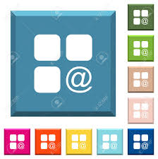 Email Buttons Component Sending Email White Icons On Edged Square Buttons In