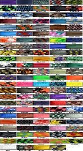 Paracord Planet Color Chart Color Chart Paracord Paracord Bracelets Paracord Tutorial