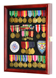 military medals pins patches insignia ribbons flag display case cabinet holder rack w uv protection
