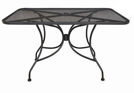 outdoor metal table. Fine Metal Amazoncom Oak Street Manufacturing OD3048 Rectangular Black Mesh Top Outdoor  Table 48 In Metal Table O