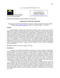 Iridology Chart Pdf Pdf Identifying Hearing Loss By Means Of Iridology