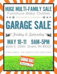 Yard Sale Flyer Template Free Beautiful Garage Community