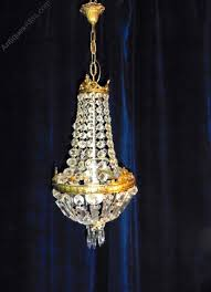 french empire style basket chandelier