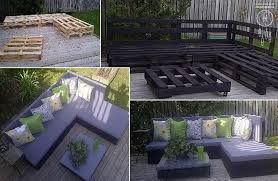 pallet patio furniture collage