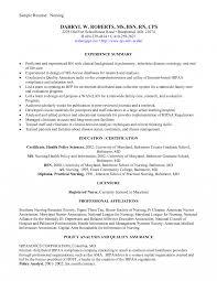New Grad Nurse Practitioner Resume Examples Certified Nursing