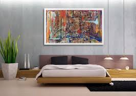 image of expensive large canvas wall art bedroom