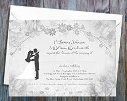 Wedding Invitation With Photo Wedding Invitations Pack Of 70 Personalised Wedding