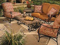 Curved Sofa & Curved Ottoman Arizona Iron Patio Furniture