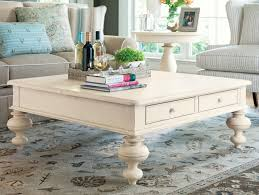 Coffee Table, Extraordinary White Square Cottage Solid Wood Extra Large  Coffee Table Ideas Which You