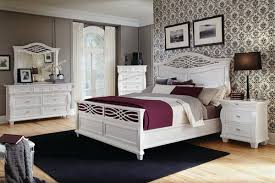 Bedroom Decorating Ideas with White Furniture Set and Wallpaper Decoration