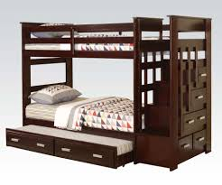 bunk bed with trundle and drawers. Wonderful And Acme Allentown TwinTwin Bunk Bed With Trundle U0026 Storage Drawers In  Espresso 10170A To With And E