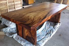 How To Make Reclaimed Wood Dining Room Table  Reclaimed solid slab acacia wood  dining table