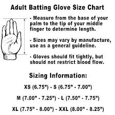 Youth Batting Gloves Size Chart Half Off 43480f6e71e
