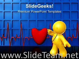 Medical Powerpoint Background Heartbeat Medical Powerpoint Background Powerpoint Template